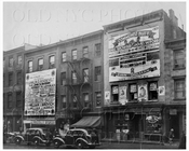 Political posters on buildings Ave C between 3rd & 4th Sts Manhattan NYC 1936