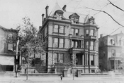 Pouch Mansion, 315 Clinton Avenue, 1922, where Aaron Copeland took his first piano lessons, about 1908