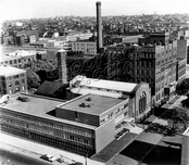 Pratt Institute and surrounding area, taken from Willoughby Walk Apts., 1959