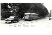 Classic  Cars & Trolleys passing by Prospect Park Brooklyn NY