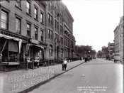 Prospect Place east from Flatbush Avenue, 1914
