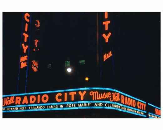 Radio City Music Hall 1950s New York City