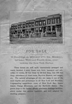 Real estate advertisement for houses on 46th and 47th Streets between 3rd and 4th Avenues, c.1885