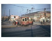 Red Trolley with Ebbets Field 2
