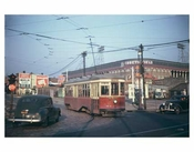 Red Trolley with Ebbets Field
