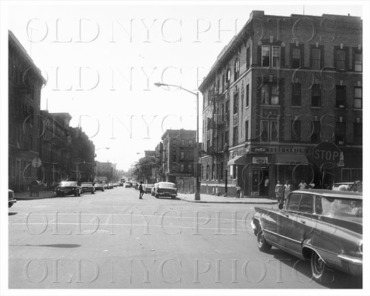 Riverdale Ave looking south facing Stone Avenue Brownsville 1964