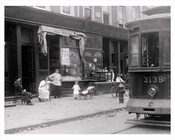 Rockaway Ave Brownsville outside a kosher shop 1918