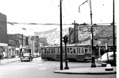 Rockaway Avenue looking south at East New York Avenue, 1951