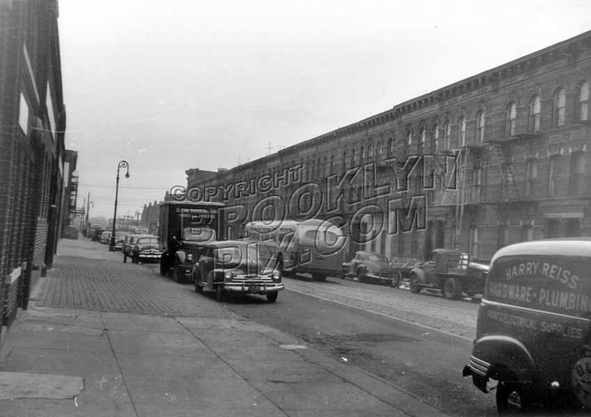 Rockaway Avenue looking south from Lott Avenue to Hegeman Avenues, c.1952