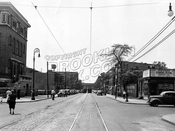 Rockaway Avenue looking south to Blake Avenue, 1945