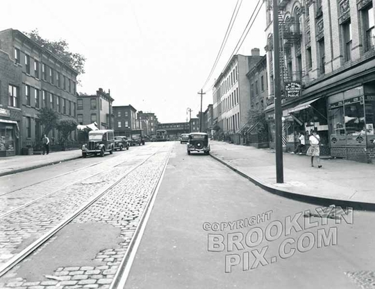 Rockaway Avenue south from McDougal Street, 1946