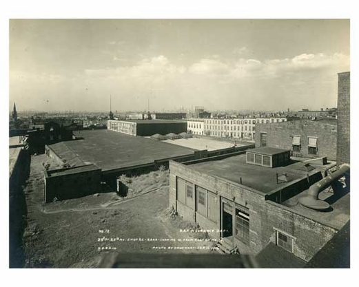 Roof view of 23rd Street & 5th Ave barn looking west Sept 11 1916