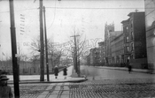 Russel Street south from Nassau Avenue to Driggs Avenue, Winthrop Park at left, 1915