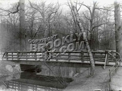 Rustic foot bridge, 1907