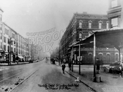 Seventh Avenue looking southwest to First Street; PS 321 now on the right, 1922