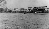 Shacks along Flatlands Bay, c.1910
