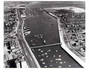 Aerial view of Sheepshead Bay Brooklyn NY