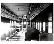 SIRT - interiors of train Staten Island NY