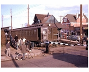 SIRT railroad crossing  1961 Staten Island NY