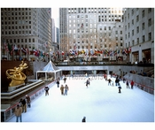 skaters at Rockafeller Center - Midtown  - Manhattan NY