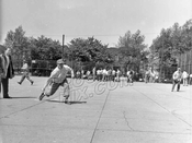 Softball game in East New York, 1940s