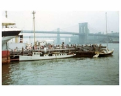 South Street Seaport looking at Brooklyn from Manhattan 1969