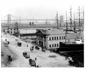 South Street with Brooklyn Bridge in the background circa 1900