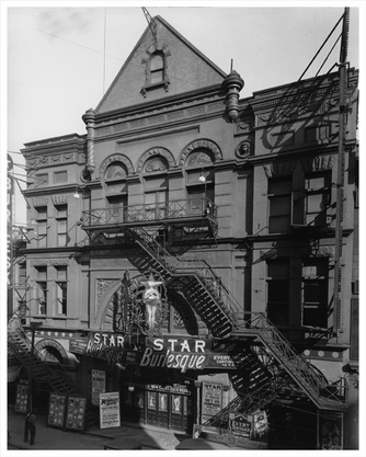 Star Burlesque Theater Jay Street Downtown 1928