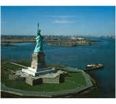 Statue of Liberty - looking northwest - Liberty Island
