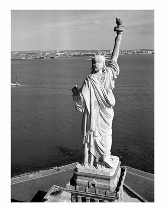 Statue of Liberty - view from behind - looking southeast