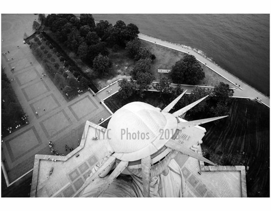 Statue of Liberty - view from the Torch looking down at the crown