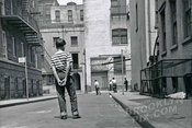 Stickball in Minetta Street, Greenwich Village, 1955