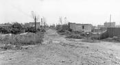 Still unpaved Grant Avenue looking south from Sutter Avenue, 1940