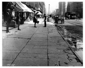 Street scene in Midtown - 4th Avenue - 1900 New York, NY