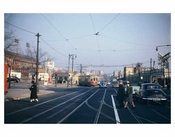 Street Scene with Gas Stations - Flatbush Brooklyn NY