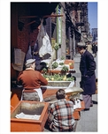 Street Vendors at Thompsons Street North from Houston Street 1940s