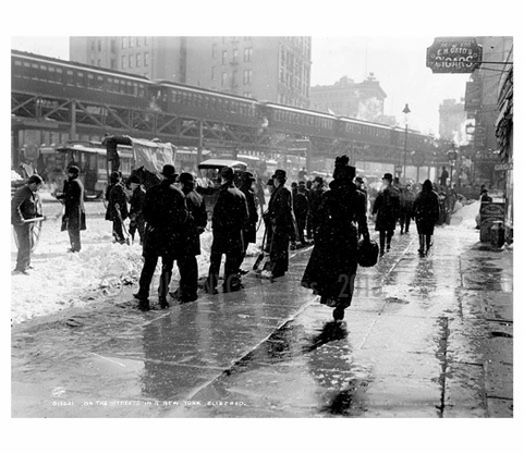 Streets of NY during a blizzard