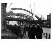 Subway bridge F train over 40th Avenue Park Slope 1931