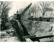 Subway Construction beneath Eastern Parkway 1914