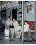 Subway scene with Colombian family 1966