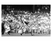 The Atlanta Braves at bat at Ebbets Field - Brooklyn NY 1957