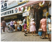The boardwalk at Coney Island  Brooklyn NY 1971