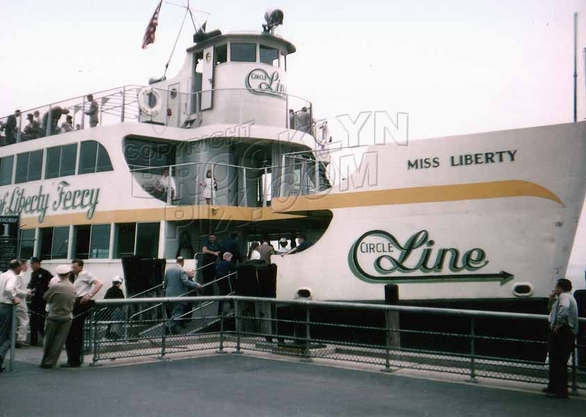 The Circle Line's Statue of Liberty Ferry, 1950s