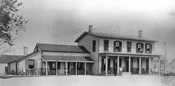 The original Tappen's Hotel, Emmons Avenue at East 27th Street, built 1845, burned 1950, 1906 photo