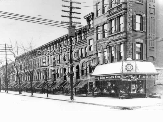 The tavern and bowling alley at 358 Bainbridge Street prior to Prohibition, c.1910