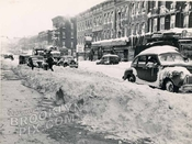 Third Avenue, southwest from 77th Street to 78th Street, Blizzard of 1947