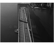 Throgs Neck Bridge - south tower looking along roadway