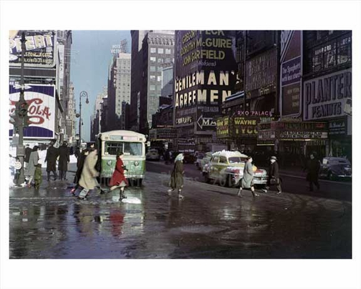 Times Square after rain
