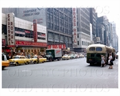 Times Square bus and taxi 1950s