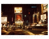 Times Square looking north at night 1968